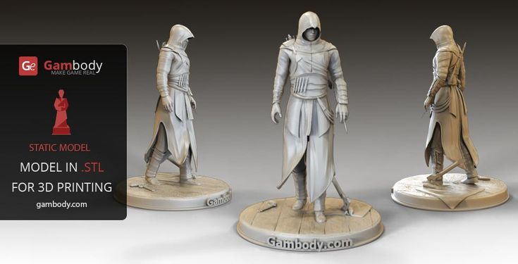 Assassin's creed 3D Models for 3D printing. #3dprintings #assasincreed
