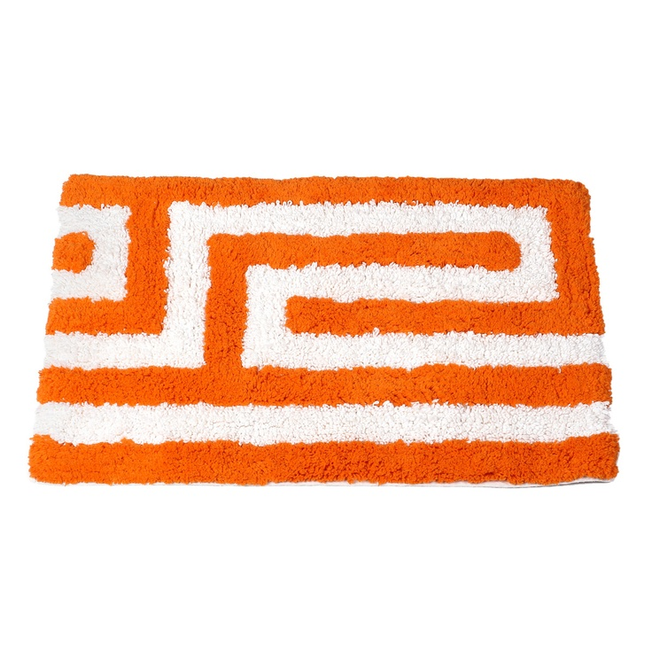 Meander Bath Mat Orange