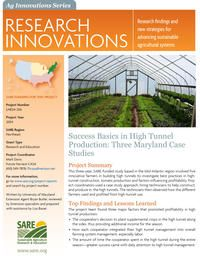 Success Basics in High Tunnel Production: Three Maryland Case Studies | SARE