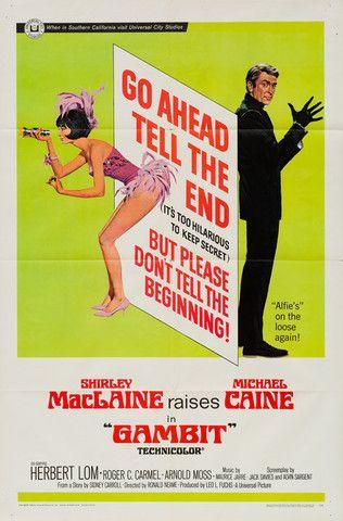 Gambit 1967 original vintage US 1 sheet film movie poster Michael Caine