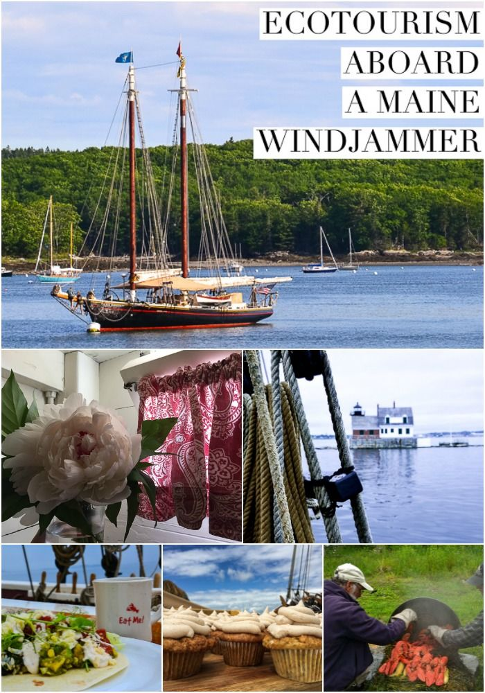 #Maine Windjammer Ecotourism Cruise Foodie Sail USA
