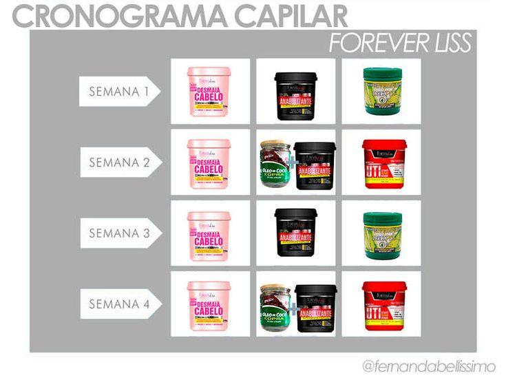 cronograma-capilar-forever-liss-fernanda-caroline