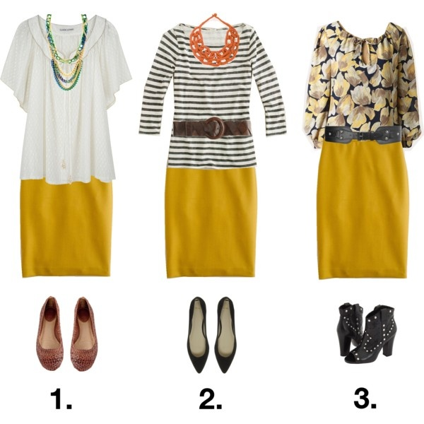 Yellow Skirt Outfits