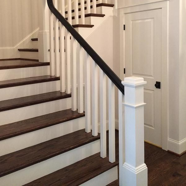 Stair Parts 41 In X 1 1 4 In Primed Square Baluster 5060x 041 Hd00l The Home Depot Staircase Remodel House Stairs Interior Stair Railing