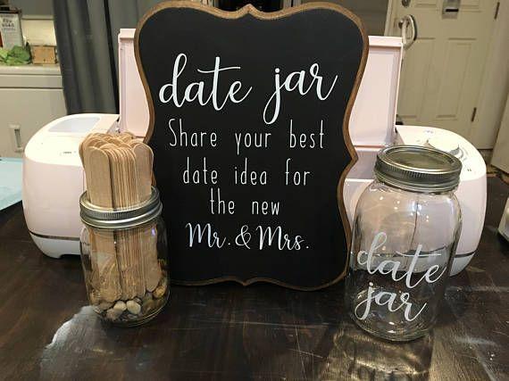 Hochzeitsdatum Jar, Hochzeit oder Brautdusche bridal shower ideas