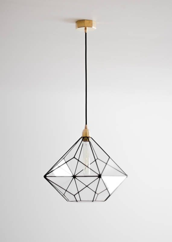 Triakis Octahedron Big Geometric Chandelier Warm Vintage Bulb