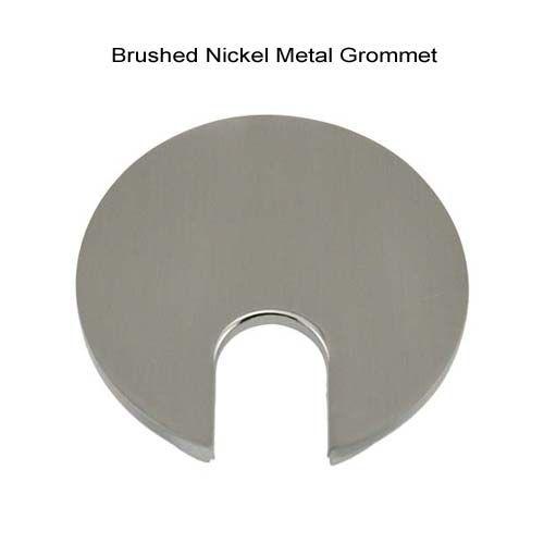brushed nickel metal desk grommet icon