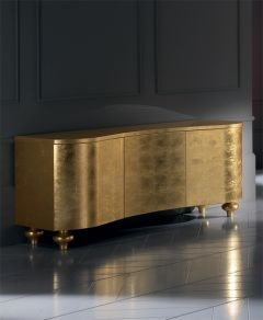 The Diva Collection gold leaf buffet sideboard creates the most stunning storage solution. Alternative sizes, legs styles and finishes available.