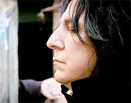 Master Severus Snape - severusnapers: Alan Rickman on the set of Harry...