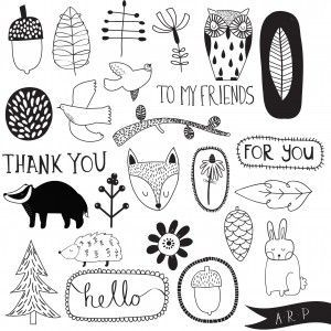Free downloadable woodland motifs from Alic …