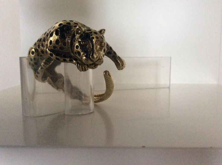 Wallis Style Panther Bangle 3 by Peaceloveheart on Etsy