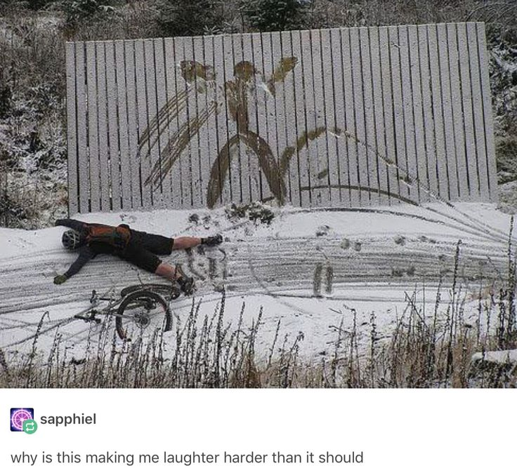 Woah. Snow biking fails. Funny pic