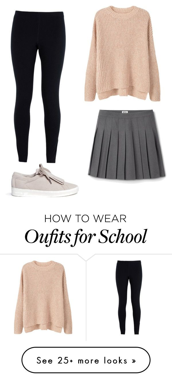 """School in style"" by sarahbiston on Polyvore featuring MANGO, NIKE and Michael Kors"