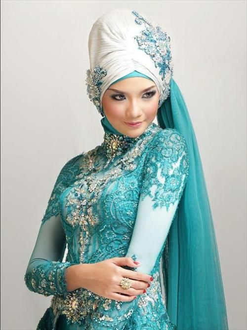 Muslim wedding hijab dress ideas
