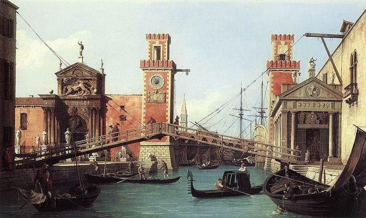 El arsenal de Venecia.