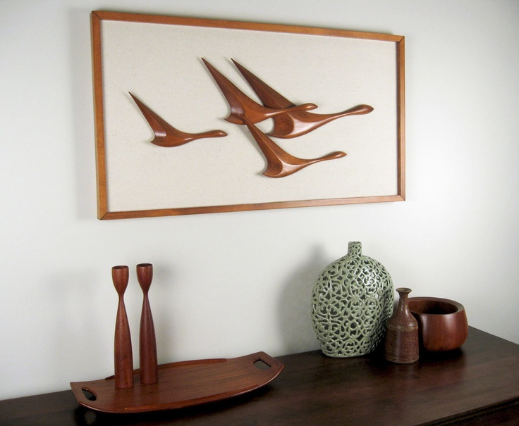 Mid-Century Danish Modern Wall Art - large, 3 dimensional piece. $189.00,