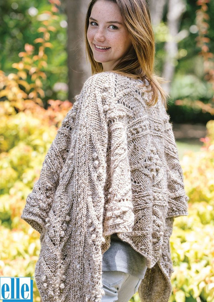 Poncho & Beanie  Brand: Elle Count: Chunky Yarn: Mischief Size From: 6 years Size To: XXL