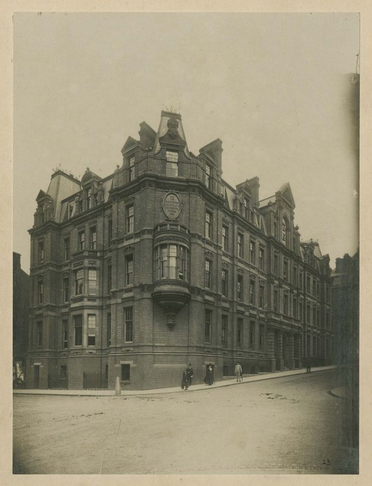 The former Birmingham Eye Hospital in Church Street back in Edwardian times