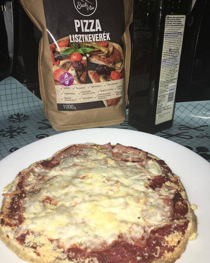 Szafi Free gluténmentes vegán pizza (zsírmentes, tejmentes, tojásmentes, kalóriaszegény, HCLF vegán)