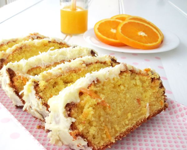 Easy Orange Cake with Orange Icing Recipe Desserts with butter, milk, orange juice, eggs, caster sugar, self raising flour, orange rind, butter, powdered sugar, orange juice, orange rind