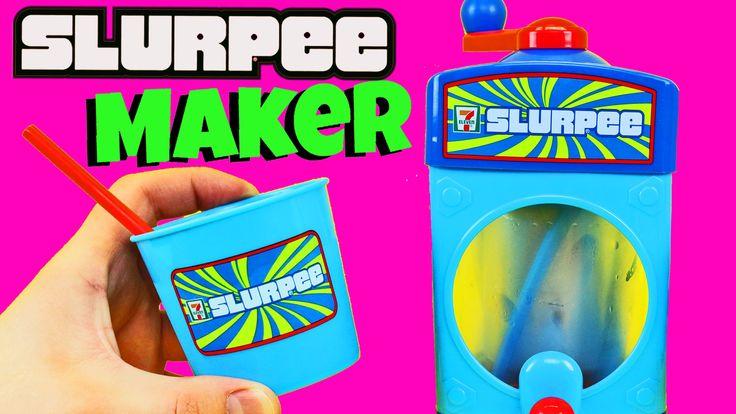 SLURPEE MAKER Seven Eleven Drinks Taste Test + Sweet Treats Soda Toy by ...