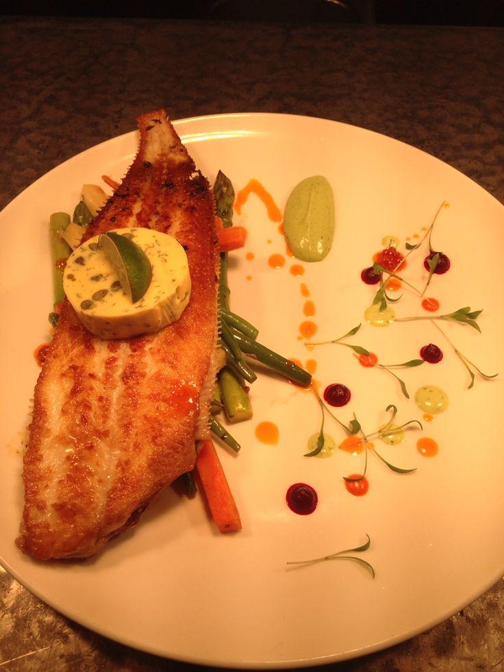 Dover Sole with seasonal vegetables & a Cafe de Paris Butter..