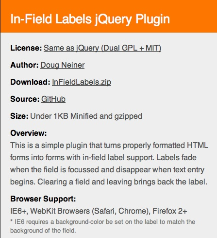 [Placeholder] In-field Labels #jquery