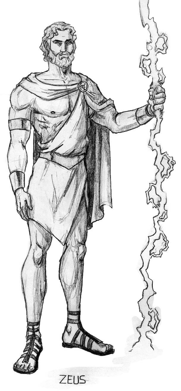 Zeus By Mbecks14 On Deviantart Greek Mythology Art Greek Gods Greek Mythology Gods