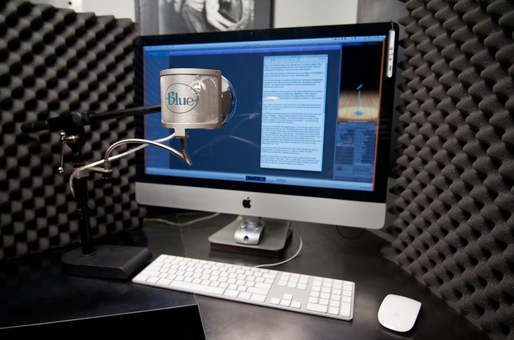 My screencasting setup. I've since upgraded from the Blue Snowball mic to the Yeti.
