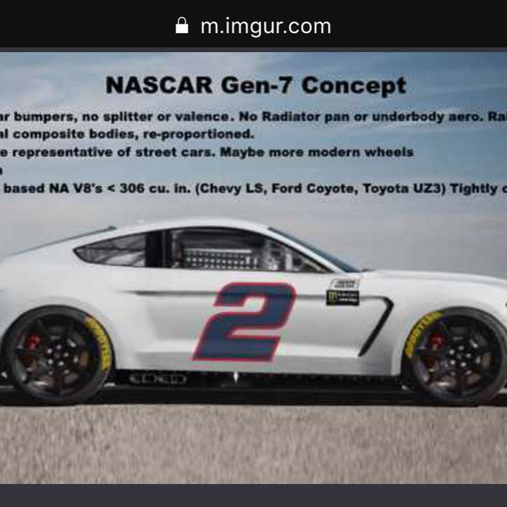 Nascar gen 7 concept cars. These cars put the stock in