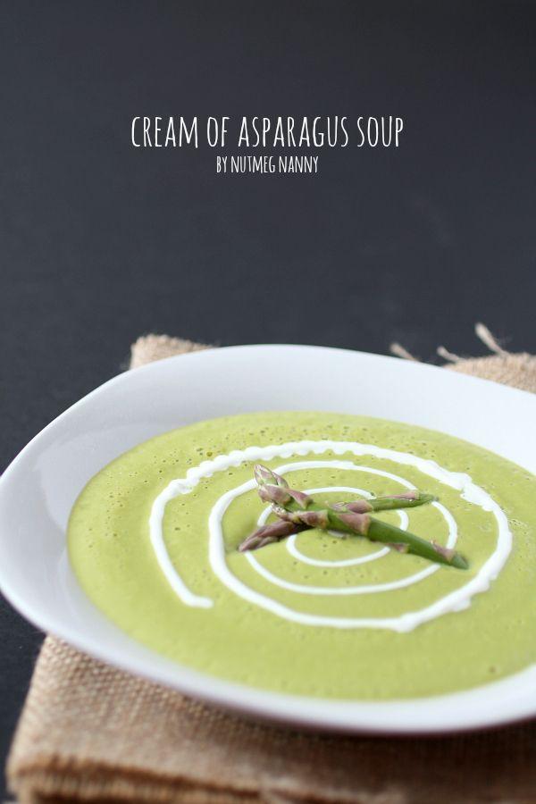 Try an alternative milk for the cream, soy, almond, even skim - Vitamix Cream of Asparagus Soup by Nutmeg Nanny