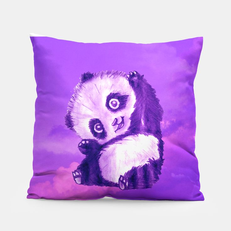 Funny Panda Pillow by Erika Kaisersot 14.95€ #panda