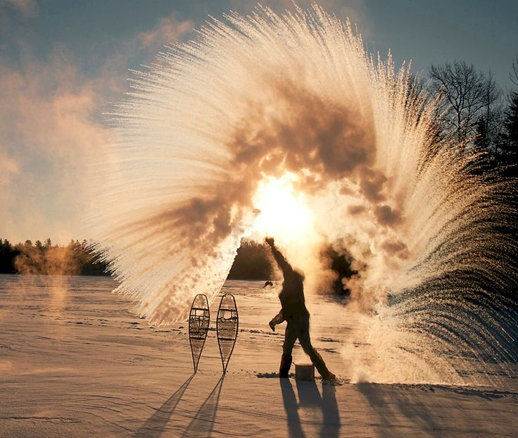 Tossing a Ladle Of Hot Water Into The Frigid Air In Ely, Minnesota - CovalentNews.com