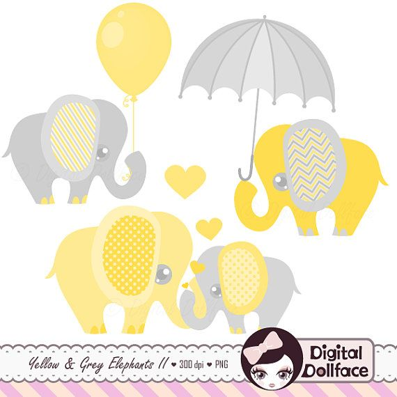elephant baby shower clipart baby and mommy elephant with balloon