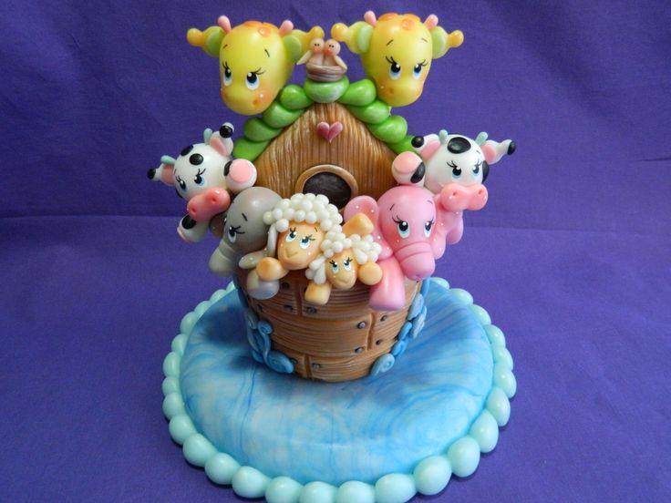 Arca de Noé modelada en porcelana fría por mí!!!