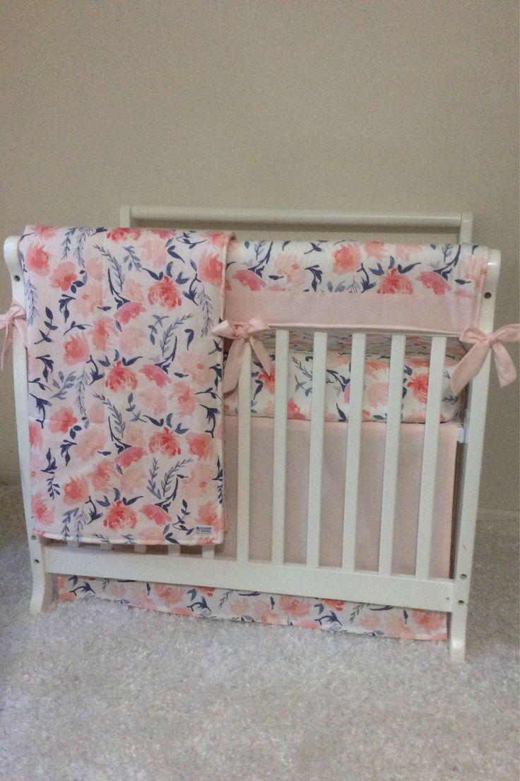Crib bedding set gray white navy blue with by butterbeansboutique -  Navy Gray And Green Mini Crib Bedding A Personal Favorite From My Etsy Shop Https Www Etsy Com