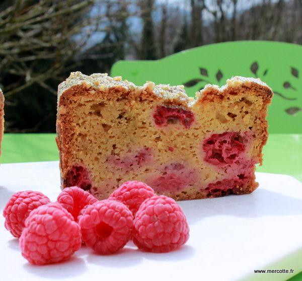 Cake framboise de Conticini version Mercotte