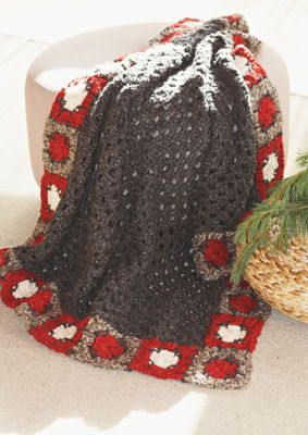 Big Granny Border Blanket (Crochet), large.   Definitely change the color scheme.