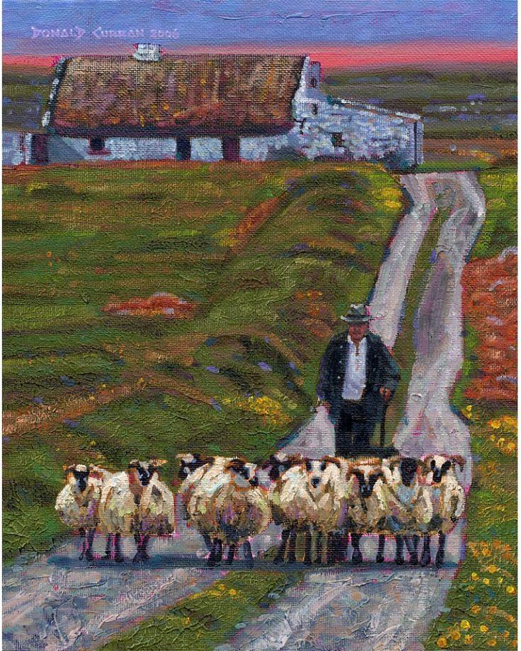 Color Print Of Oil Painting Shepherd Cottage Irish By ARTOFIRELAND 1500