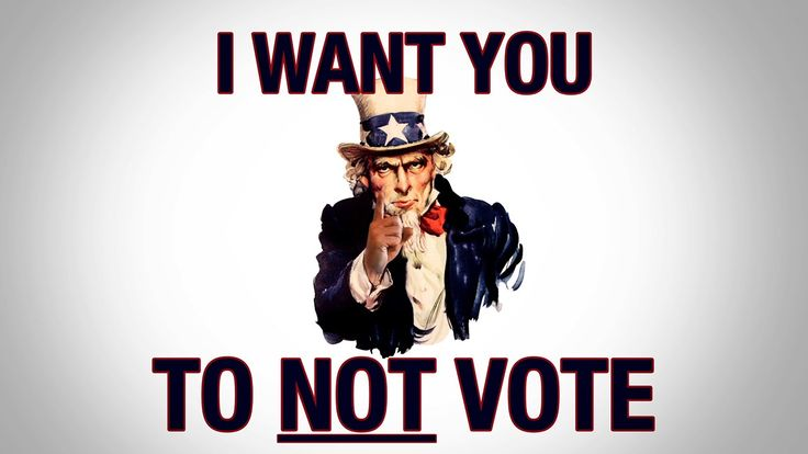 Please Don't Vote - A Message From The Republican Party