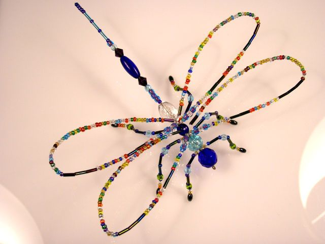 Beaded Dragonfly #214 - Summer Solstice Dragonfly - Rainbow - Beadlebugs