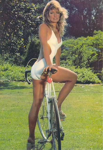 Farrah Fawcett bikes in heels.  more importantly, i used to have a schwinn that …, Hot Babes Naked