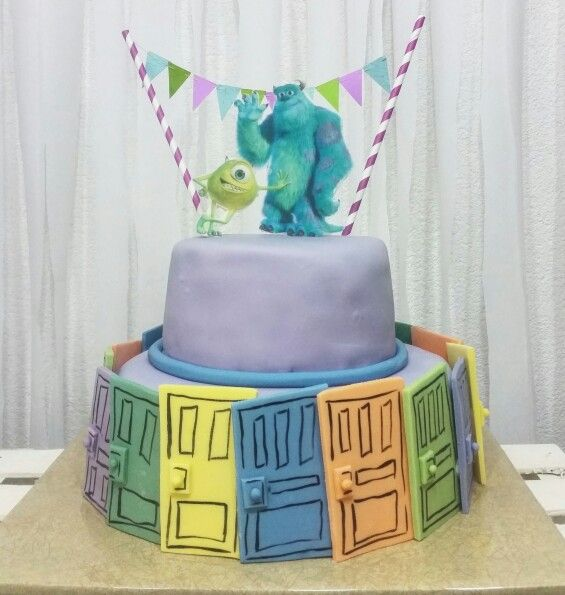 Monsters inc birthday cake idea
