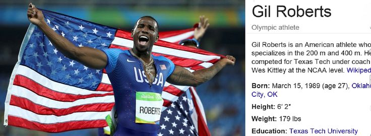 Texas Tech standout Gil Roberts will be returning from Brazil with a GOLD Medal in hand. Team USA regained the men's 4x400m crown from Team Bahamas in the first ever long relay in history in which six teams dipped below three minutes!  http://www.kcbd.com/story/32805734/gil-roberts-captures-gold-in-rio 8/20/16