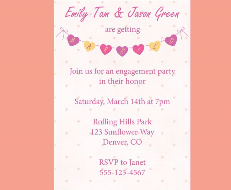 engagement party invitations wording – How to Word Engagement Party Invitations