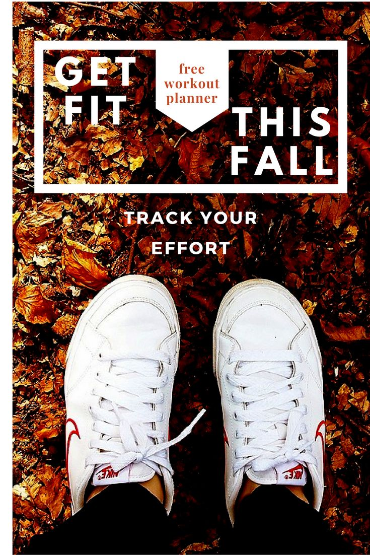 Free Workout Planner to get fit this fall