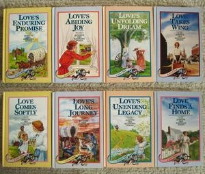 'Loves Comes Softly' series by Janette Oke (Re-read, these are the same covers from when I first read the series at age twelve!)