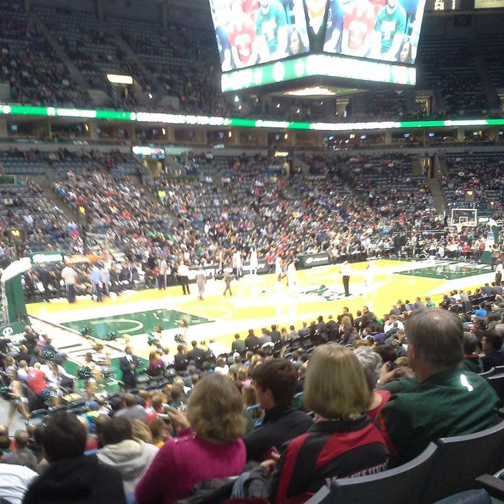Milwaukee Bucks basketball game at the BMO Harris Bradley Center in Milwaukee, Wisconsin.