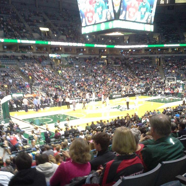 Milwaukee Bucks basketball game at the BMO Harris Bradley Center in Milwaukee, Wisconsin.