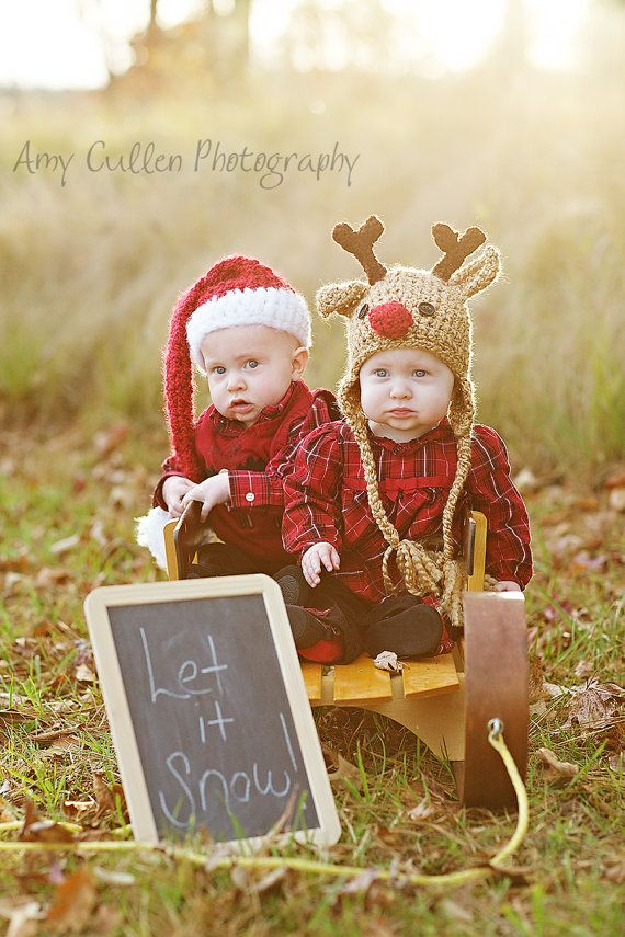 These baby Santa and reindeer hats are too cute for words! Santa Hat Baby Santa Hat Newborn Cute and Soft by JojosBootique